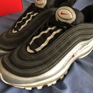 Air max 97 silver and black